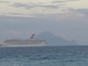 pic of SABA and Cruise ship from St Martin
