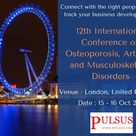 12th International Conference on Osteoporosis, Arthritis and Musculoskeletal Disorders