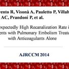JHT Residual Clot in Patients With Deep Vein Thrombosis-Pulmonary Embolism Prognostic Implication
