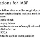 Indications for Intra-Aortic Balloon Pump IABP