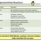 Types of Hypersensitivity Reactions