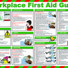 A first aider in the workplace provides medical emergency care to injured employees