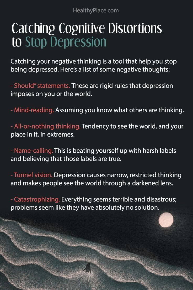Catching cognitive distortions to stop Depression