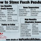 How to Store Fresh Produce from My Fearless Kitchen. There is always lots and lots of fresh produce