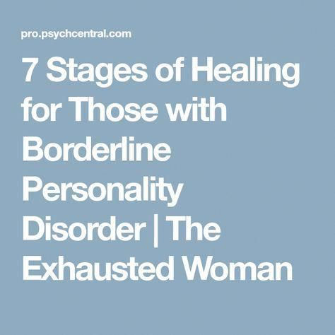 7 Stages of Healing for Those with Borderline Personality Disorder