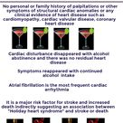 Think before you drink ? Beware of Holiday Heart Syndrome [Pathology Infographic]