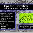 Tips for Prevention: Nutrition & Meal Planning
