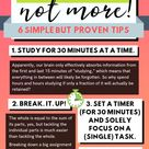Study BETTER, not more : 6 simple but proven tips.