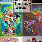 Art Therapy Ideas - brilliant & all you need is paper or a journal & some crayons! Great for