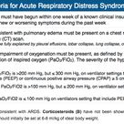 Berlin Criteria for Acute Respiratory Distress Syndrome (ARDS) Rosh Review