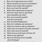 50 Questions to get to know yourself well
