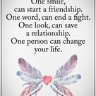 One person can change your life.