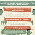 No Flu For You! - 6 Easy Ways to Avoid Getting Sick Infographic