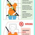 Safe Seat belt use when Pregnant.