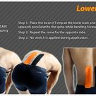 Kinesiology taping instructions for the lower back #ktape #ares #back #LowerBackPain
