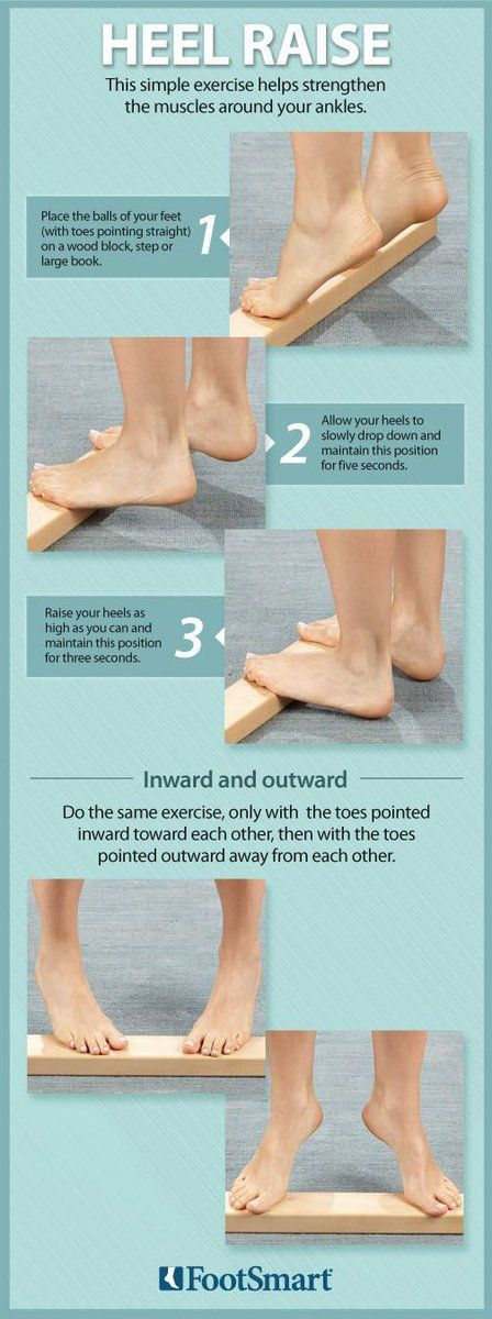 These heel raise exercises are effective and helps strengthen the muscles around your ankles.