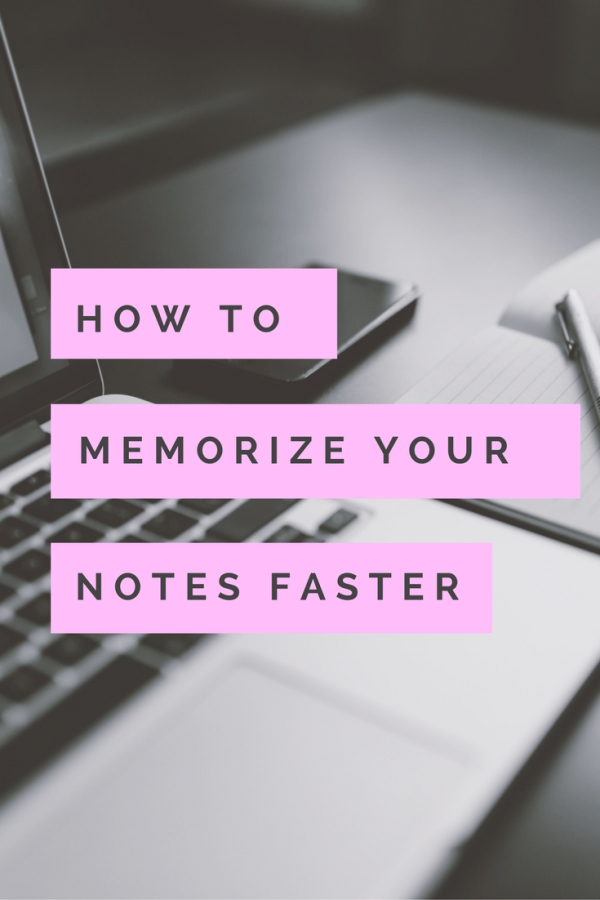Memorize your notes faster before your next test.