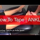 How To Tape An Ankle Sprain