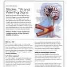 Stroke, TIA, and Warning Signs Page 1 of 2