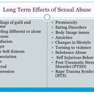 Long Term Effects of Sexual Abuse