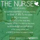 The nurse is temporarily for those...