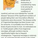 Trigeminal Neuralgia - most painful condition of mankind. http://www.medfaxxinc.com/index.php?/Artic
