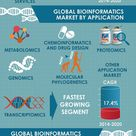 Global Bioinformatics Market - Infographic: techlogy, services, application, sector, geography