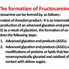 The formation of fructosamine