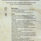 High Histamine Food List