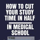 Want to know one of my favorite tricks to decrease how you study in medical school?