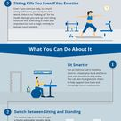 5 Ways Sitting is Killing You Infographic Health