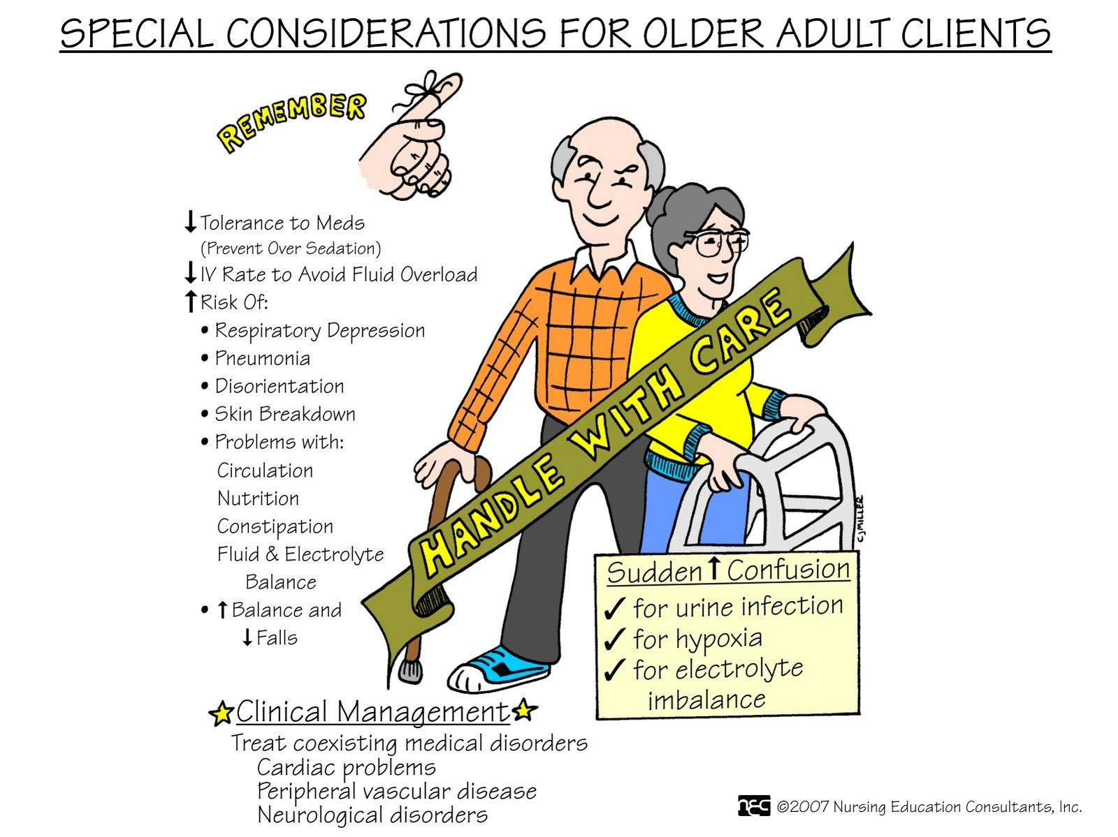 Special considerations for older adult clients
