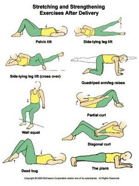 EXCLUSIVE PHYSIOTHERAPY GUIDE FOR PHYSIOTHERAPISTS: POST NATAL EXERCISE CHART