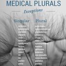 Complete list of medical plural exceptions.
