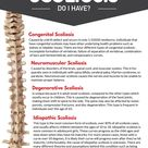 What type of scoliosis do I have? There are four different types of scoliosis: congenital, neuromusc