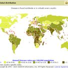 The map shows the reported cases of Tetanus in different countries around the world. The first graph