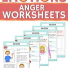WORKSHEETS for kids: ANGER SIGNS. Help kids learn to read emotions (anger signs) with these beautifu