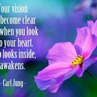 Look inside your heart quote