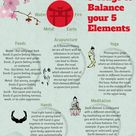 ways to balance yourself according to the 5 element chart in Chinese medicine