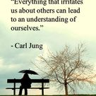 """Everything that irritates us about others lead to an understanding of ourselves."" - Carl"