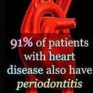 This is compared to 66% of people tha have #periodontitis but no known #heart disease.  Repost from