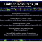 A list of resources to direct to patients.