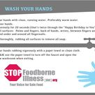 Read this infographic on how to properly wash your hands and help save life by keeping our food safe