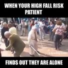 High fall risk patient