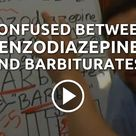 Stop confusing yourself with these highly addictive medications! Benzodiazepines and barbiturates ar