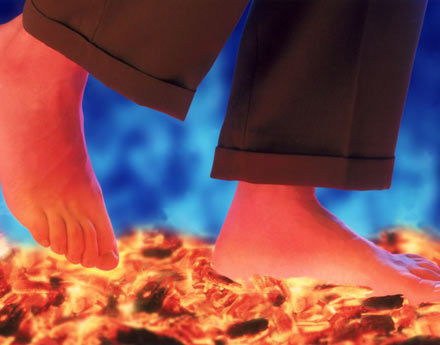 Some people appear to be able to walk on fire, crossing unharmed across a long bed of burning coals
