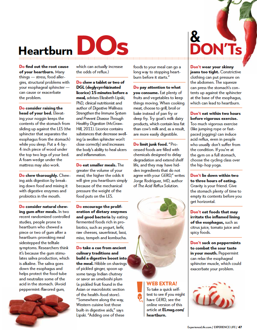 Are your eating and drinking patterns giving you heartburn? Are over-the-counter medications making