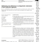 Excellent UK Article on Anti-Psychotic Drug Harm Reduction in Journal of Psychiatric and Mental Heal