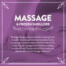 Massage and frozen shoulder