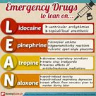 Emergency drugs to lean on